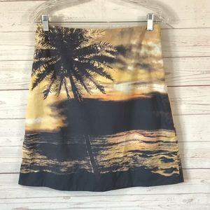 Anthropologie HD in Paris printed beach skirt, 2